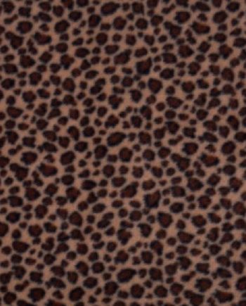 Fleece Dark Leopard