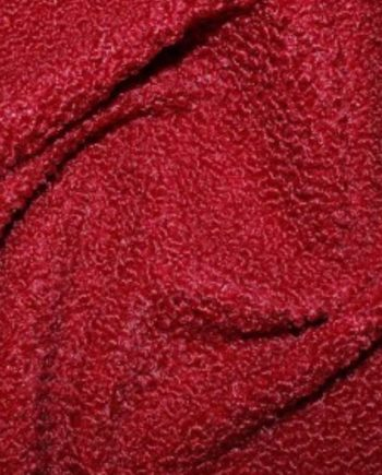 Faux Italian Sheepskin Deep Red