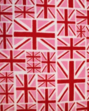 Fleece Union Jack Pink