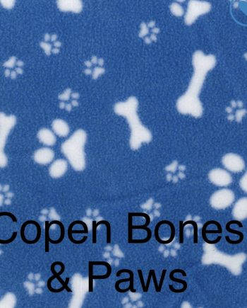 Fleece Copen with ivory bones and paw prints